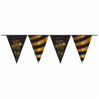 Happy new year vlaggenlijn zwart