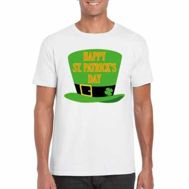 Happy st. patricksday shirt wit heren
