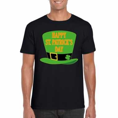 Happy st. patricksday shirt zwart heren