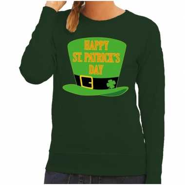 Happy st. patricksday sweater groen dames