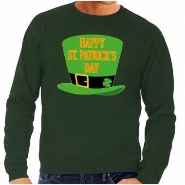 Happy st. patricksday sweater groen heren