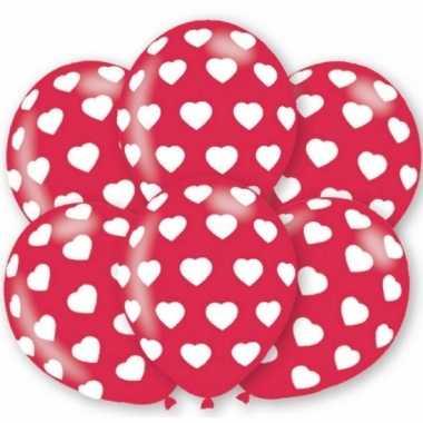 Hartjes ballonnen 6 stuks