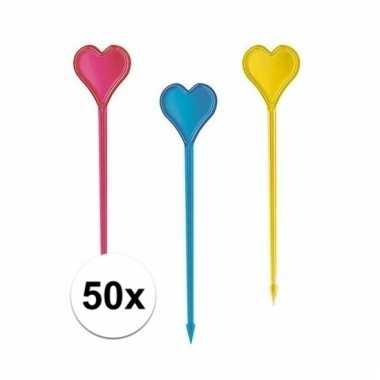 Hartjes cocktailsticks 50 cm