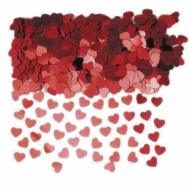 Hartjes confetti rood 3 zakjes