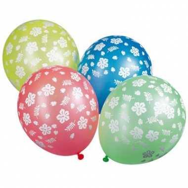 Hawaii ballonnen gekleurd 5 stuks