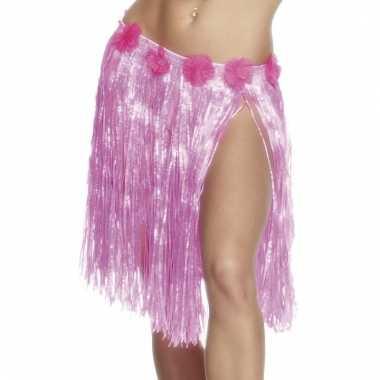 Hawaii hula dames rokje lichtroze