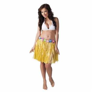 Hawaii rokje geel 45 cm voor dames