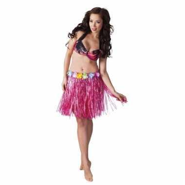 Hawaii rokje roze 45 cm voor dames