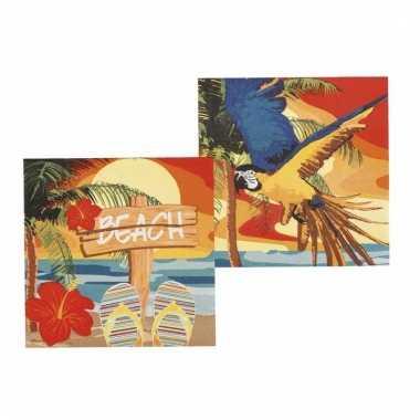 Hawaii thema servetten 12 stuks