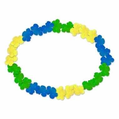 Hawaiikrans blauw, geel en groen