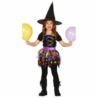 Heksen kinder outfit met hoed