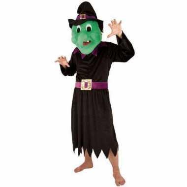 Heksen kostuum voor volwassen met groot masker