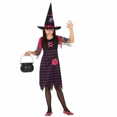 Heksen verkleed kostuum met hoed voor meisjes