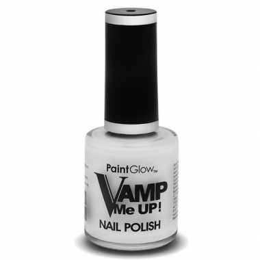 Heksen/zombies nagellak mat wit 12 ml