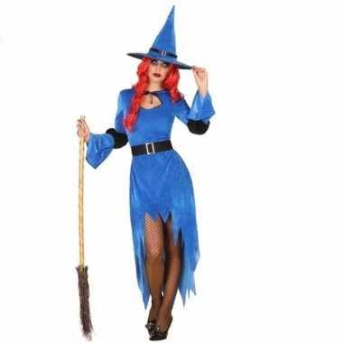 Heksenkleding blauw jurkje voor dames