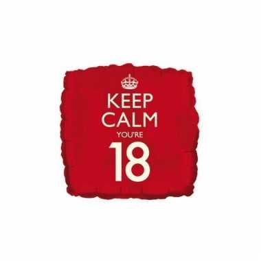 Helium ballon keep calm you are 18