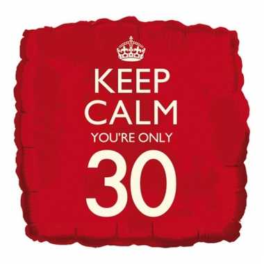Helium ballon keep calm you are 30