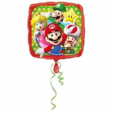 Helium ballon met mario bros print 43 cm