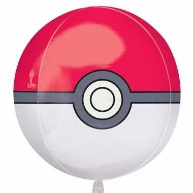 Helium ballon met pokeball print 40 cm