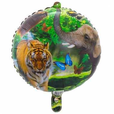Helium ballon met safari dieren print 45 cm