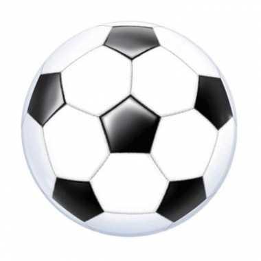 Helium ballon voetbal zwart/wit