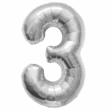 Helium ballonnen cijfer 3