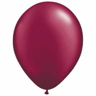 Helium ballonnen donkerrood 50 stuks