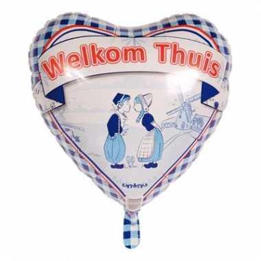 Heliumballon welkom thuis 45 cm