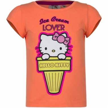 Hello kitty t-shirt oranje