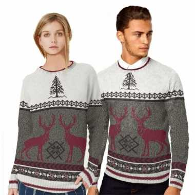 Heren kerstmis trui met rendieren