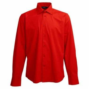 Heren overhemd rood van l&s