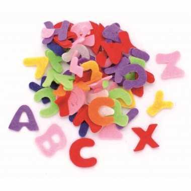 Hobby vilt 150 gekleurde vilten letters 2,5 cm