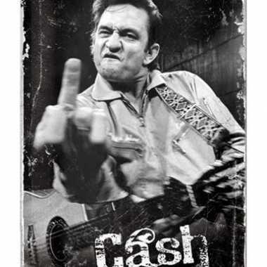 Hollywood muurplaat johnny cash 20 x 30 cm