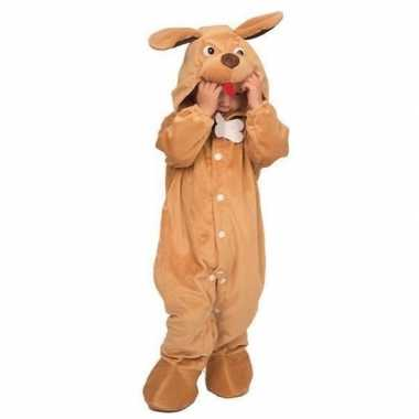 Hond dieren onesie/kostuum voor babys bruin