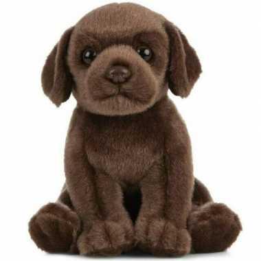 Huisdier labrador hond knuffels bruin 16 cm