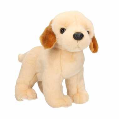 Huisdieren knuffels labrador hond blond 20 cm