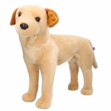 Huisdieren knuffels labrador hond blond 53 cm