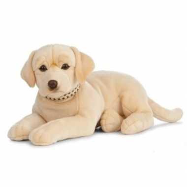 Huisdieren knuffels labrador hond blond 60 cm