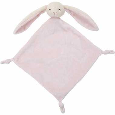 Huisdieren tutteldoekjes knuffels konijn roze 40 cm