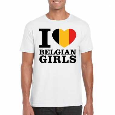I love belgian girls t-shirt wit heren