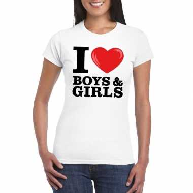I love boys & girls t-shirt wit dames