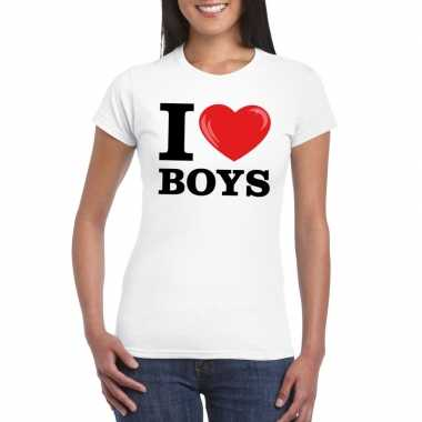 I love boys t-shirt wit dames