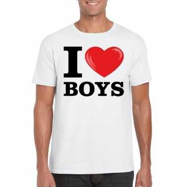 I love boys t-shirt wit heren