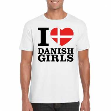 I love danish girls t-shirt wit heren