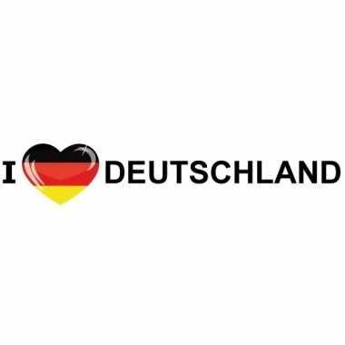 I love deutschland papieren sticker