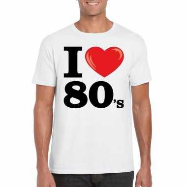 I love eighties t-shirt wit heren