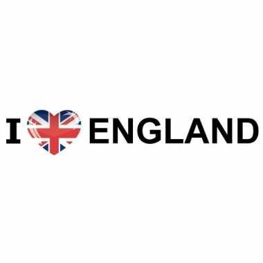 I love england papieren sticker