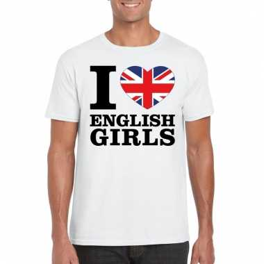 I love english girls t-shirt wit heren