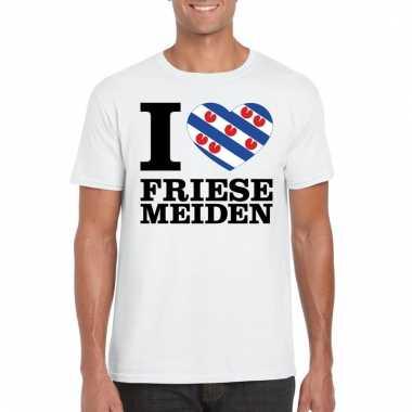 I love friese meiden t-shirt wit heren