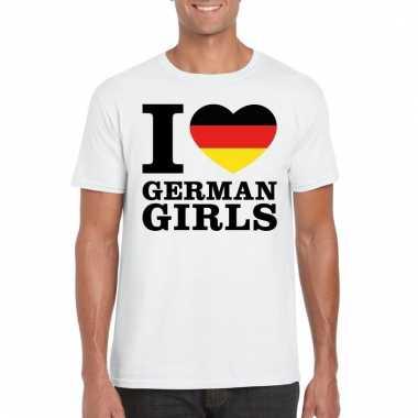 I love german girls t-shirt wit heren